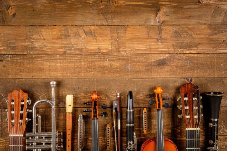 Les familles d'instruments de musique de base